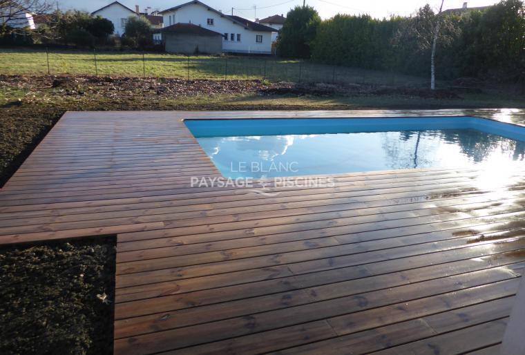 Terrasse Bois autour piscine - AUREILHAN 65 -