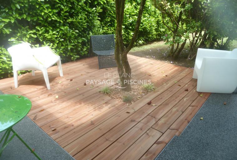 Réalisation d'une terrasse bois - LALOUBERE 65 -