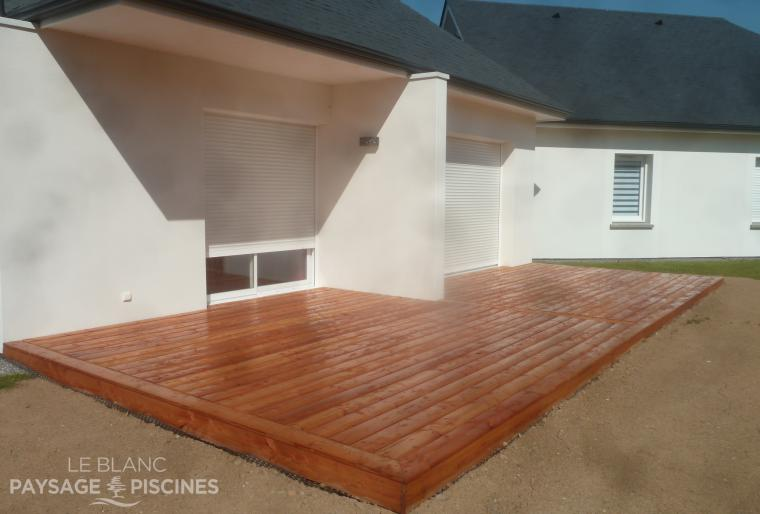 Réalisation d'une terrasse bois - MONTGAILLARD 65 -