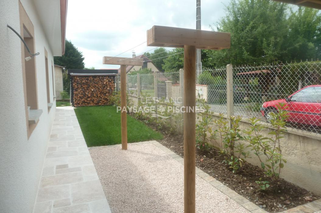 Amenagement paysager leblanc - Etendoir a linge exterieur en beton ...