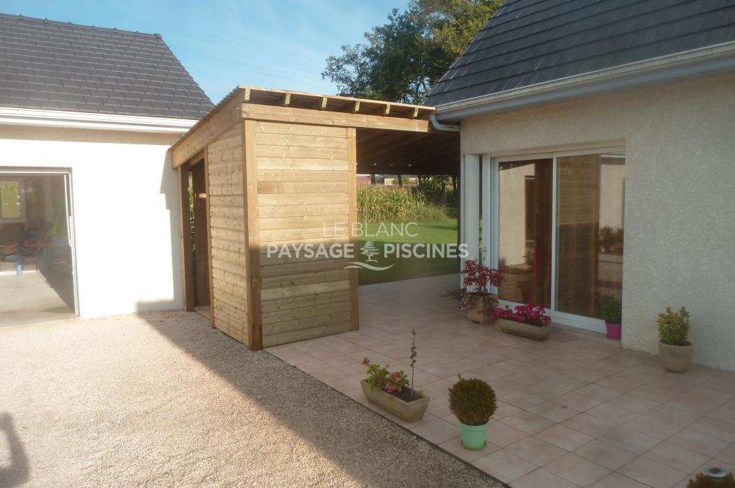 r alisation pergola bois et toiture ombri re ger 64 leblanc. Black Bedroom Furniture Sets. Home Design Ideas